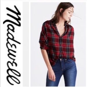 Madewell • Central Plaid Button Down